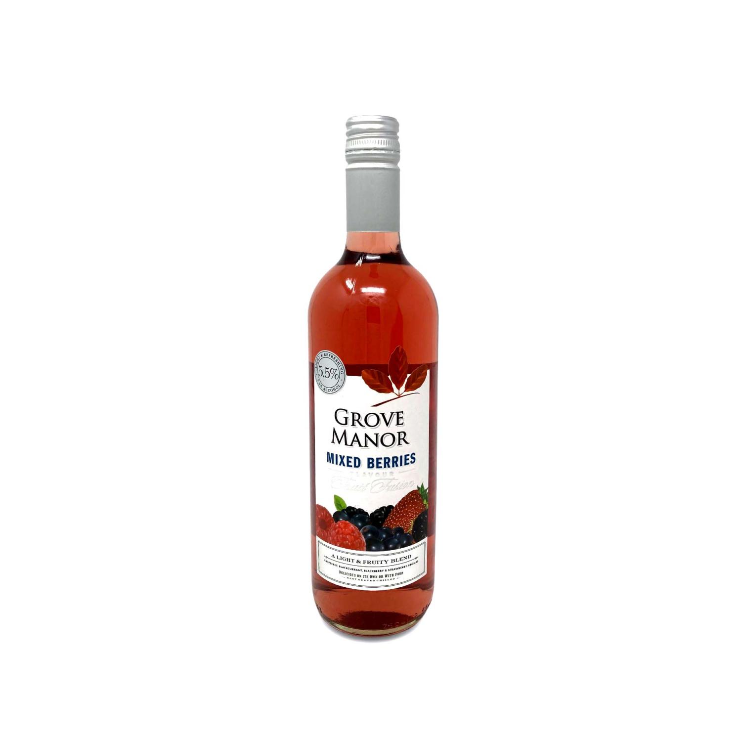 Grove Manor Mixed Berries Fruit Wine 75cl