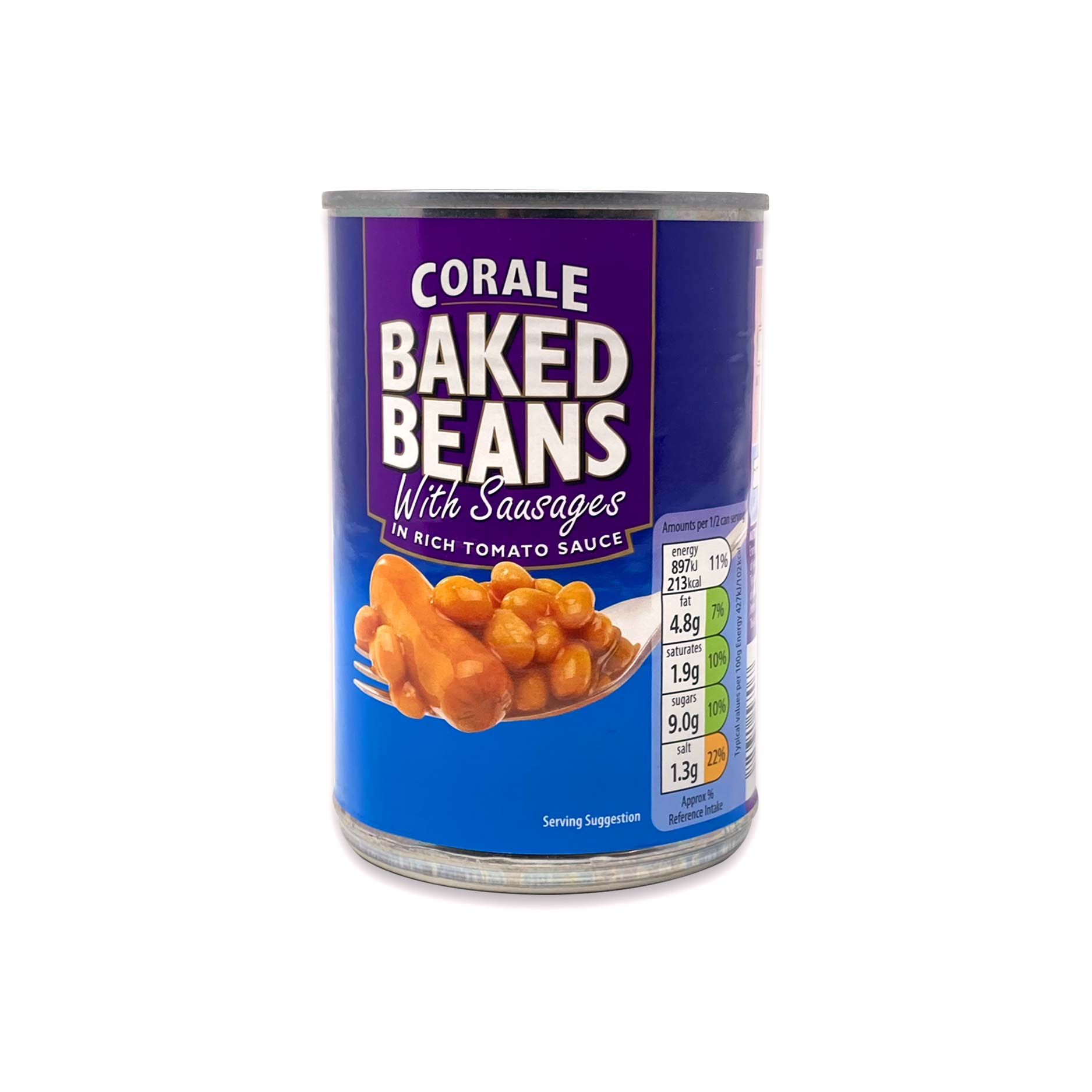 Corale Baked Beans With Sausages 420g Aldi