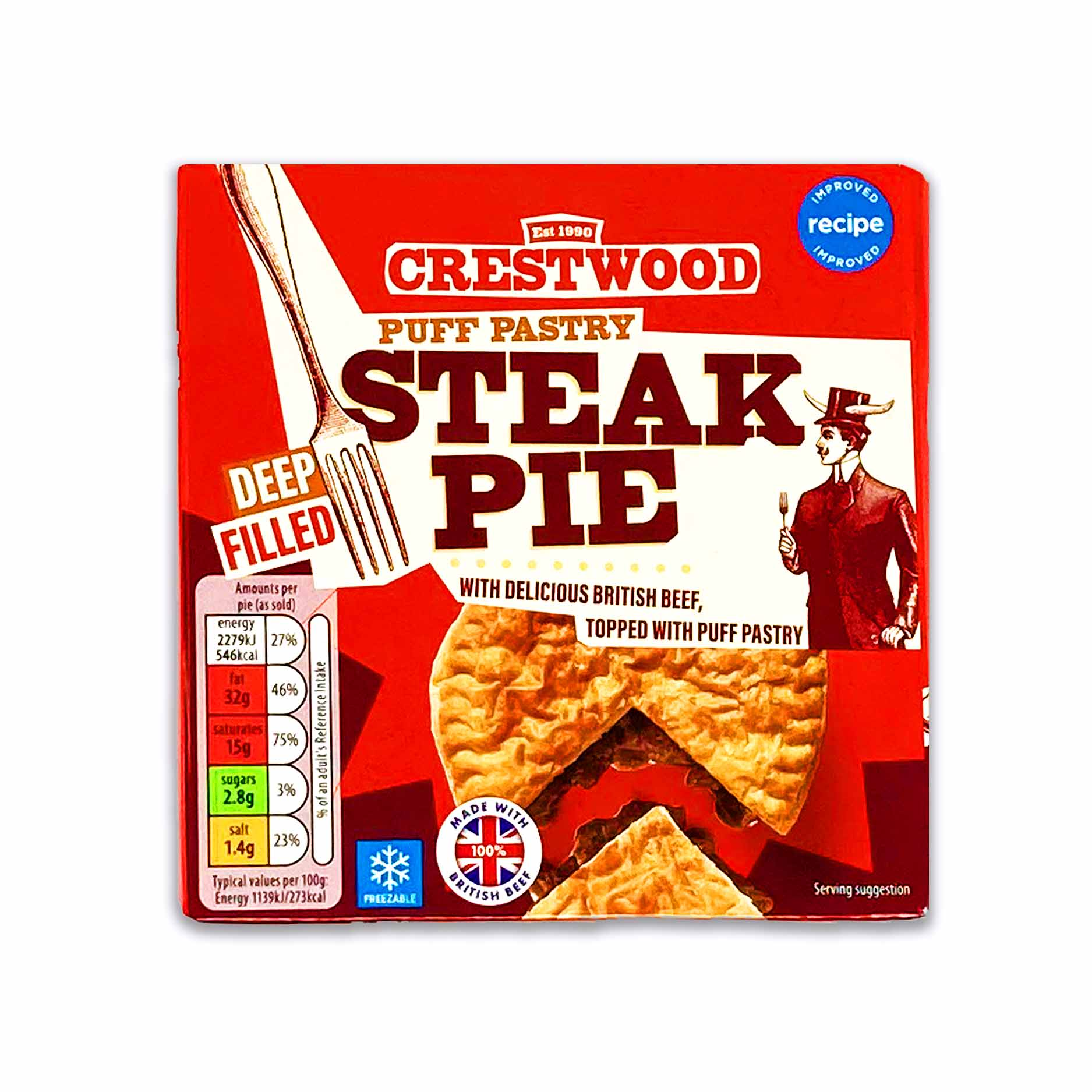Crestwood Puff Pastry Steak Pie 200g | ALDI