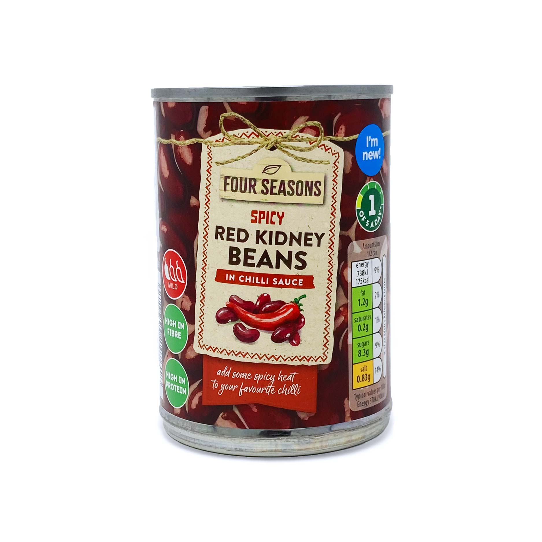 Four Seasons Spicy Red Kidney Beans In Chilli Sauce 390g Aldi