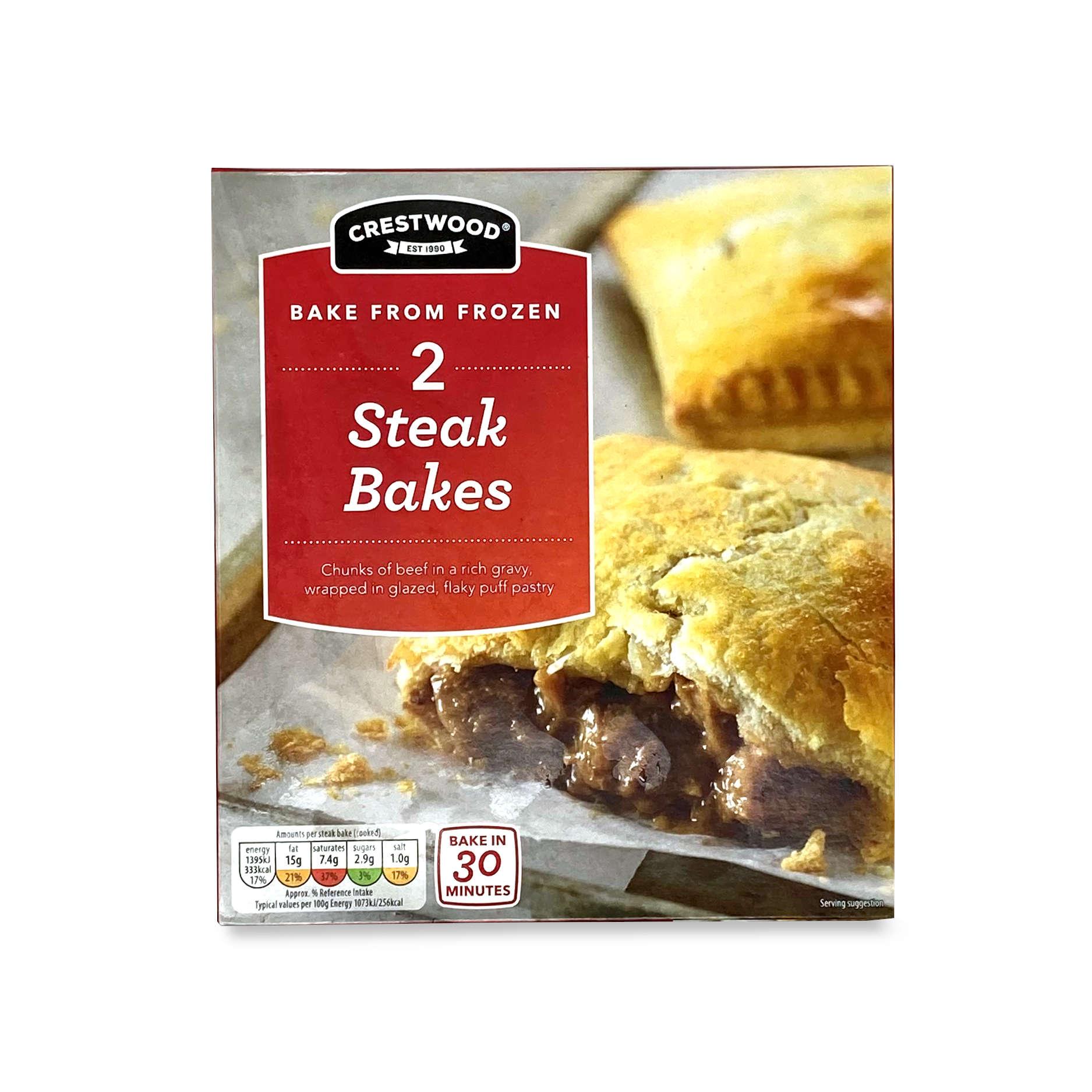 Crestwood 2 Steak Bakes 140g   ALDI