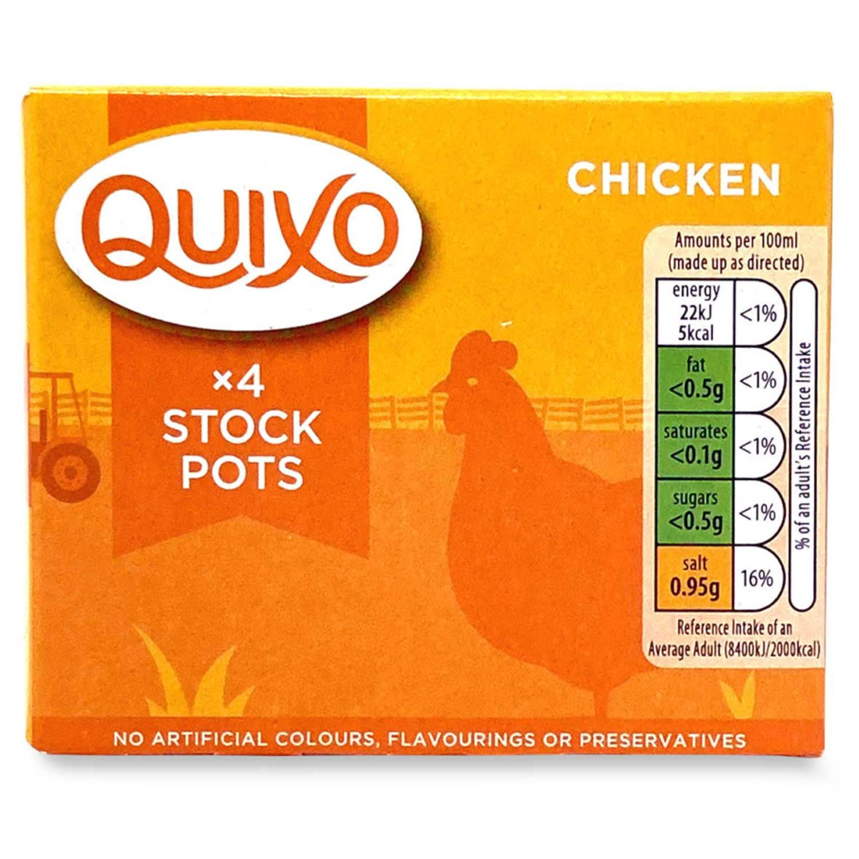 Quixo 4 Chicken Stock Pots 96g