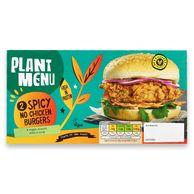 Plant Menu 2 Spicy No Chicken Burgers 240g