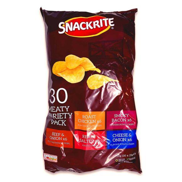 Snackrite Multipack Meaty Variety Crisps 30x25g