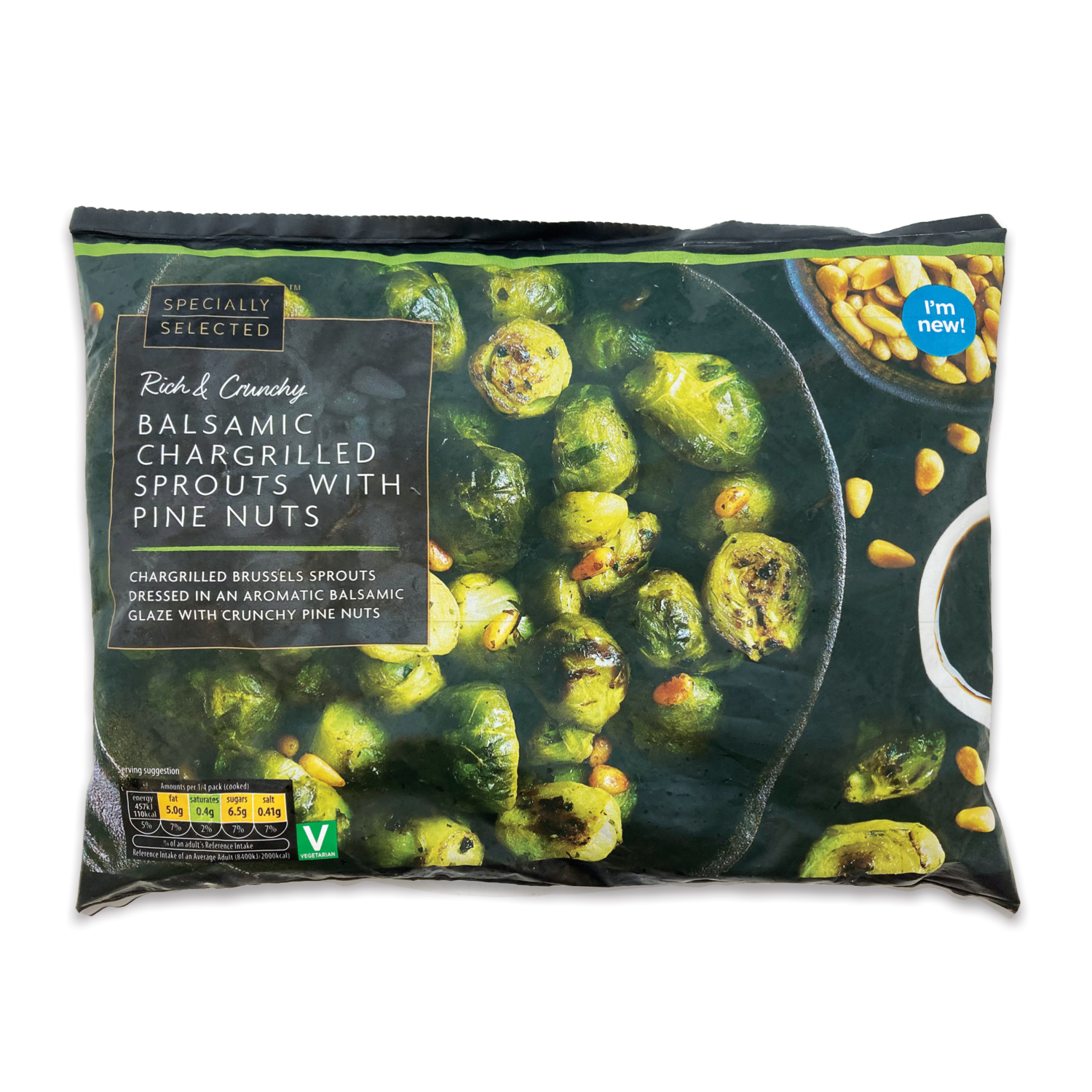 Specially Selected Balsamic Chargrilled Sprouts With Pine Nuts 400g